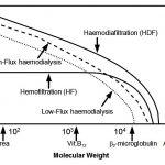 Figura 1 - Efficienza di varie tecniche dialitiche diffusive e/o diffusive convettive sulla clearance di soluti a differente peso molecolare. (Modif. da Wizemann V, et al. - J Am Soc Nephrol 2001;12:A1432) (Ref 10).
