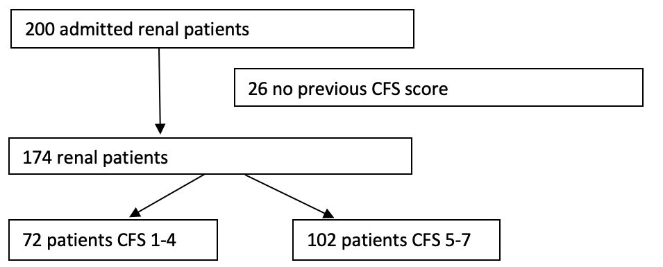 Figure 1: Number of patients in the cohort